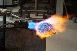 1st Saturday Free Narrated Glass Blowing Demo @ Three Dimensional Visions